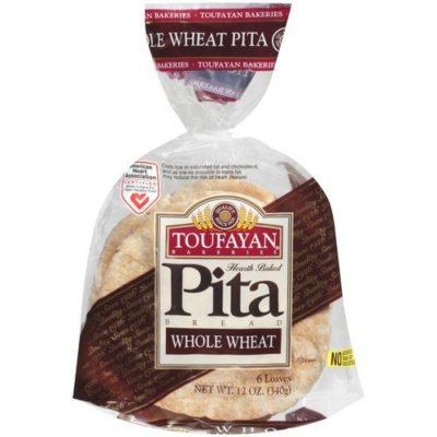 Toufy Whole Pita Bread 12 Oz.