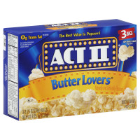 Act II Butter Lovers 3 PK