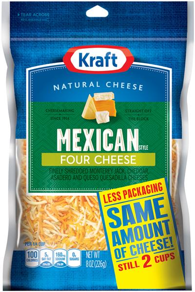 kraft shredded mexican four cheese 8 oz starfish market. Black Bedroom Furniture Sets. Home Design Ideas