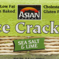 Asian Gourmet Sea Salt Lime Rice Crackers 3.5 OZ